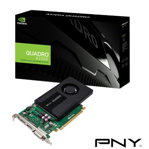 Placa video profesionala PNY nVidia Quadro K2000 2GB, GDDR5, 128bit