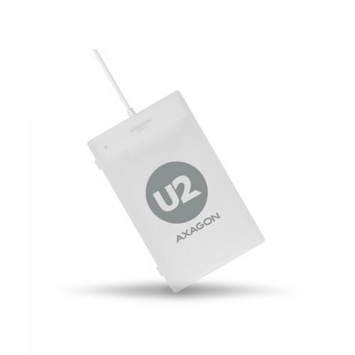 Rack Axagon ADSA-1S, USB 2.0 - SATA, 2.5inch, White