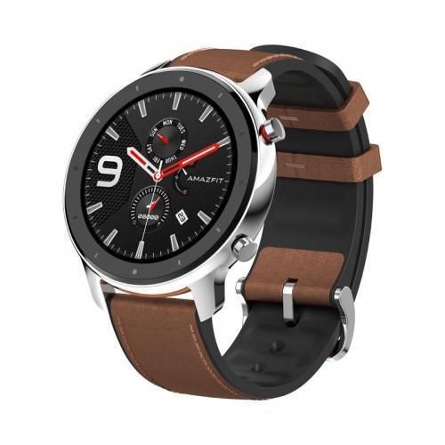 Smartwatch Xiaomi Amazfit GTR 47mm, 1.39inch, curea piele, Silver-Brown - RESIGILAT