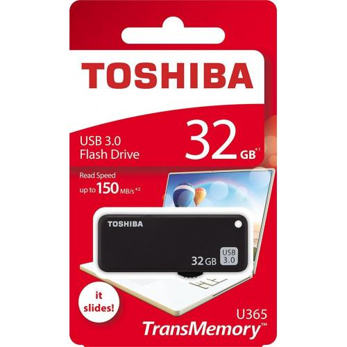 Stick Memorie Toshiba U365, 32GB, USB 3.0, Black