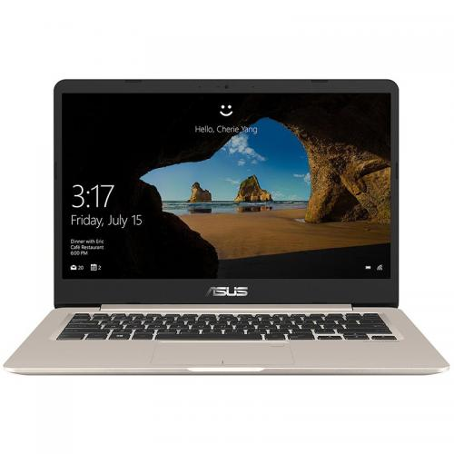 Ultrabook ASUS VivoBook S14 S406UA-BM031T, Intel Core i7-8550U, 14inch, RAM 8GB, SSD 256GB, Intel UHD Graphics 620, Windows 10, Icicle Gold
