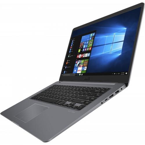 Ultrabook ASUS VivoBook S15 S510UN-BQ135, Intel Core i7-8550U, 15.6inch, RAM 8GB, HDD 1TB + SSD 128GB, nVidia GeForce MX150 2GB, Endless OS, Gray Metal