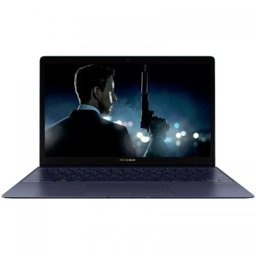 Ultrabook Asus ZenBook 3 UX390UA-GS048R, Intel Core i7-7500U, 12.5inch, RAM 16GB, SSD 512GB, Intel HD Graphics 620, Windows 10 Pro, Blue