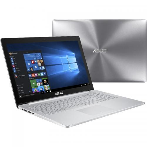 Ultrabook ASUS Zenbook Pro UX501VW-FJ006T, Intel Core i7-6700HQ, 15.6inch Touch, RAM 16GB, SSD 512GB, nVidia GeForce GTX 960M 4GB, Windows 10, Silver