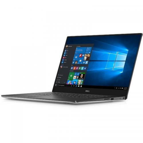 Ultrabook Dell New XPS 15 (9560), Intel Core i5-7300HQ, 15.6inch Touch, RAM 8GB, SSD 256GB, nVidia GeForce GTX 1050 4GB, Windows 10 Pro, Silver